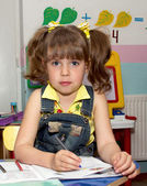 Preschooler in the class — Stockfoto