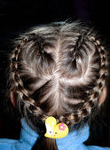 Heart shaped braid — Stockfoto