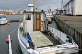 Boat in the fishing port — Stock Photo