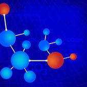 Moléculas — Vetorial Stock