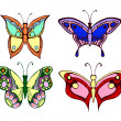 Set of colorful butterflies on white background — Stock Vector #43407069
