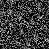 Floral doodle pattern of lace. — Stockvector