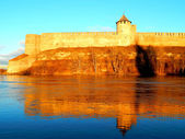 Ivangorod fortress at the border of Russia — Stock Photo