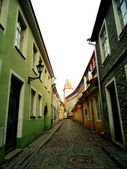 Street of the old town of Tallinn — Stock Photo