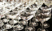 A lot of cocktail glasses — Stock Photo