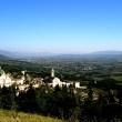 View of the mountains and the town of Assisi, Italy — Stock Photo