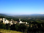 View of the mountains and the town of Assisi, Italy — ストック写真