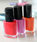 A set of colourful nail polishes — Stock Photo