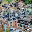 Kiev roofs of colorful europian buildings — Stock Photo #49219909