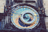 Detail of the Prague Astronomical Clock (Orloj) in the Old Town of Prague — Photo