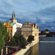 Landscape of Prague city and river Vltava — Stock Photo #49757479
