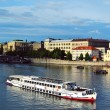 Landscape of Prague city and river Vltava — Stock Photo #49757519