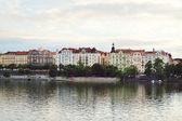 Landscape of Prague city and river Vltava — Stock Photo