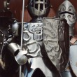 Three guardian knights in iron armors — ストック写真