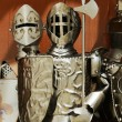 Three guardian knights in iron armors — Stockfoto #49906003