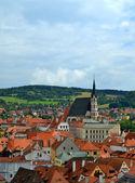 Vista da cidade de cesky krumlov — Fotografia Stock