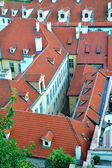 Red european roofs of Prague — Stock Photo