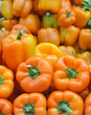 Sweet orange bell peppers — Stock Photo