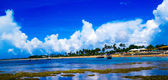 Beach and clouds — Stock Photo