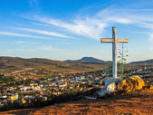 城市景观,在十字架 — 图库照片