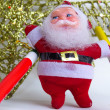 Christmas and Santa Claus Decorations — Stock Photo