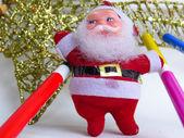 クリスマスとサンタ クロースの飾り — ストック写真