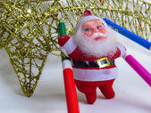 Santa Claus Decorations — Stock Photo