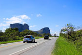 Auto-Straßen und Fahrzeuge — Stockfoto