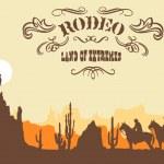 Cowboy. Wild West Western Elements — Stock Vector