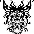 Skull tattoo — Stock Vector #36137133