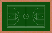 Wooden basketball court — Vector de stock