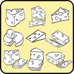 Cheeses vector — Stock Vector