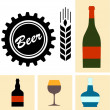 Beer icon vector collection — Stock Vector