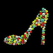 Shoes vector — Stock Vector