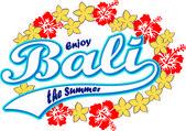 Bali island — Stock Vector