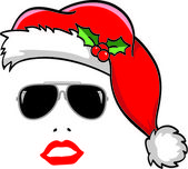 Santa with sunglasses — Stock Vector