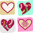 Vector valentine's day icon  — Stockvectorbeeld