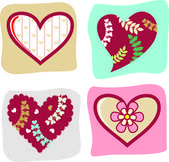 Vector valentine's day icon — Stock Vector