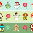 Christmas icons, elements and illustrations  — Stock Vector