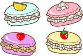 Delicious tasty cakes — Stock Vector
