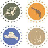 Cowboy life elements — Stock Vector