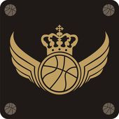 Vector basketball labels — Stock Vector