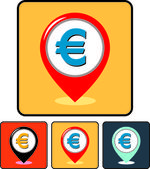 Money - Euro currency sign vector icon — Stock Vector
