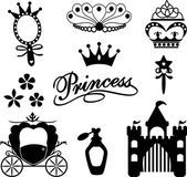 Prinses icoon collectie — Stockvector