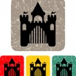 Royal castle - Vector icon isolated  — Stock Vector