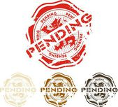 Grunge pending rubber stamp, vector illustration — Stock vektor