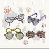 Красота и солнцезащитные очки. вектор — Cтоковый вектор