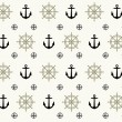 Nautical seamless vector illustration — Stock Vector