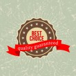 Best choice label , vector illustration — Stock Vector