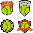 Set vector : Vintage Baseball Labels and Icons  — Stock Vector